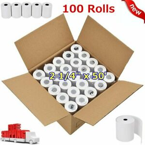 100 Rolls Credit Card Register Pos Thermal Receipt Paper 2 1 4 X 50 For Ict220