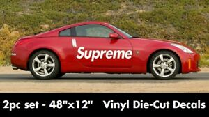 48 X 12 Avery Supreme Vinyl Decals Stickers Large Side Car Illest Skate Font