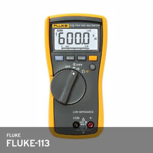 Fluke 113 Utility Multimeter True Rms Test Leads 9v Battery Ac dc 600v 10a Fedex