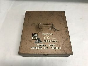 Vintage 1950 S Gm Delco Electric Motors Terminal Plate Assembly Kit Display