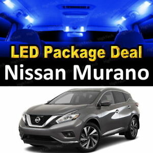 For 2011 2012 2013 2014 Nissan Murano Led Lights Interior Package Kit Blue 9pcs