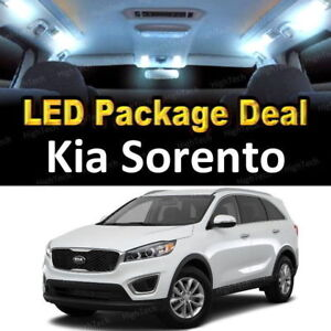 For 2014 2015 2016 2017 Kia Sorento Led Lights Interior Package Kit White 7pcs