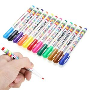 Hot 12 Colors whiteboard Markers White Board Dry erase Marker Pens Set Fine Nib