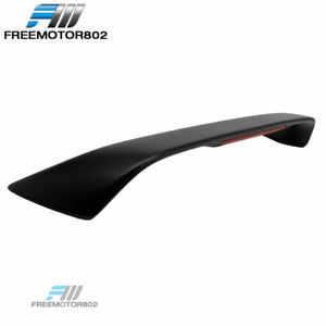 Fit 94 01 Acura Integra Coupe Type R 3rd Brake Led Unpainted Black Trunk Spoiler
