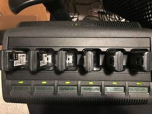 Motorola Wpln4218a Impres 6 unit Charger With 6 Pmnn4493a Batteries