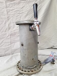 Custom Draft Beer Tower W Perlick 630ss Faucet tinned Copper Navy Salvage