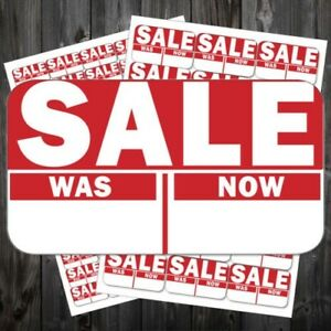 Bright Red Sale Reduced Clearance Price Point Stickers Sticky Labels acr