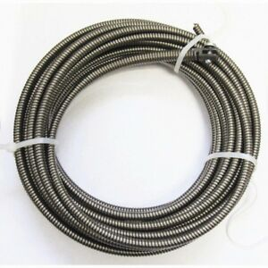 50 Ft Replacement Drain Auger Cable Slotted End Snake Cleaner Clog Pipe Cleaner