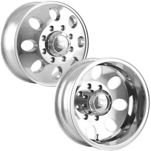Set Of 4 Ion 167 Dually 16 Inch 8x165 1 8x6 5 Polished Wheels Rims