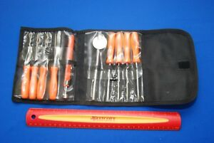 Snap On 10 Pc Orange Mini Hard Grip Screwdriver Pick Set Near New Ships Free