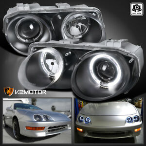 Jdm Black 1998 2001 Acura Integra Halo Projector Headlights Left right