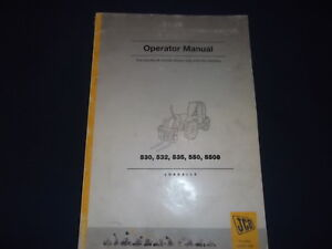 Jcb 530 532 535 550 5508 Forklift Operators Operation Maintenance Manual