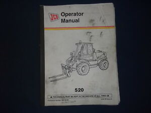Jcb 520 Rough Terrain Forklift Operator Operation Maintenance Manual