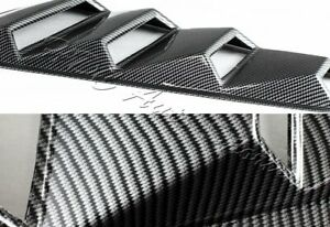 For Ford Mustang 1 4 Quarter Carbon Style Side Window Louvers Scoop Cover Vent
