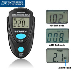 Automotive Paint Coating Thickness Tester Digital Lcd Display 2 2mm 86mil