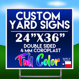 qty 5 24 X 36 Full Color Double Sided Custom Yard Sign