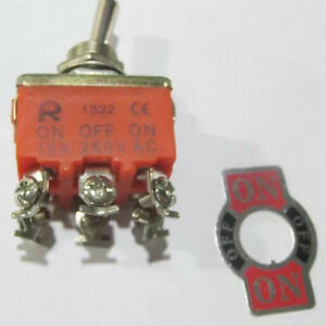10pcs 6 pin 3 Position 15a 250v Toggle Dpdt On off on Switch
