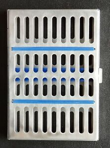 5x Dental Sterilization Cassette Rack Tray Box For 10 Surgical Instruments