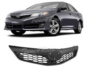 For 2012 2014 Toyota Camry Se Style Front Bumper Black Upper Grille Grill Hood