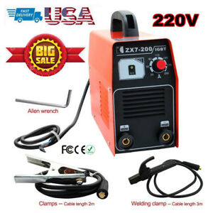 Zx7 200 220v Welding Machine Dc Inverter Mma Arc Welder Equipment Metalworking