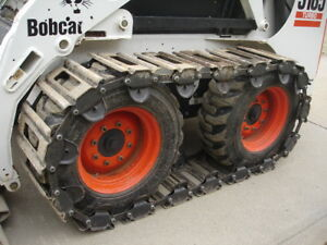10 Over The Tire Steel Skid Steer Tracks For Daewoo 440 1550xl