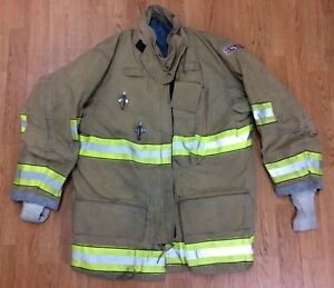 Globe Gxtreme Fire Fighter Bunker Turnout Jacket W Drd 42 Chest X 32 Length 07