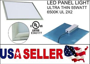 Panel Led Light Ultra Thin 55w 2x2 6500k Ul External Driver New Dimmable 6050lm