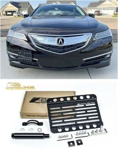 Eos For 15 17 Acura Tlx Front Bumper Tow Hook License Plate Bracket Holder