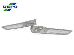 Depo Pair Of Crystal Clear Bumper Side Marker Lights For 2010 2012 Ford Fusion