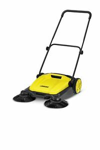 Outdoor Push Sweeper Patio Driveway Cleaner Human powered Mechanism Portable