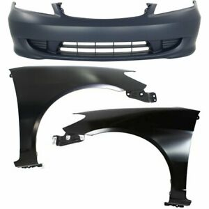 New Auto Body Repairs Set Of 3 Front Coupe Sedan For Honda Civic 2004 2005