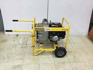 Used 3 trash Pump Wacker Pt3 Dewatering Gas Water Excavations Pumps Well Pond