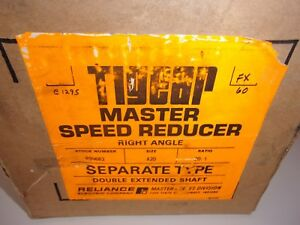 Reliance Electric Tigear Master Speed Reducer 20 1 Id 495902 3 4y Size A20
