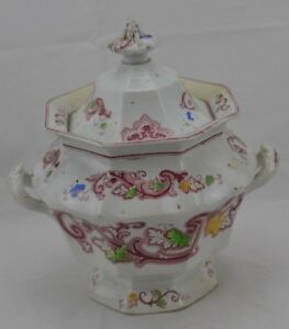 Unmarked Softpaste Covered Sugar Bowl English