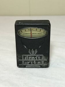Vintage Bacharach Pocket Draft Rite Meter Hundredth Inches Water Draft