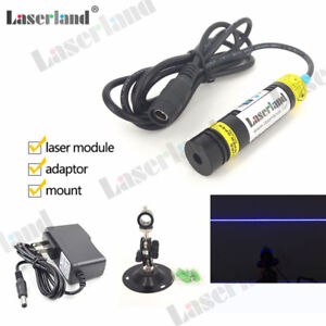 1668 445nm 450nm Blue 80mw Line Generator Diode Laser Module Focusable Lens