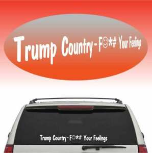 Trump Country Cool Fun Windshield Banner Auto Car Truck Decal 40