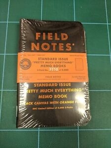 Field Notes Pretty Much Everything Aaron Draplin Halloween Orange Ed 5k Numbered