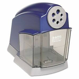 X acto School Electric Pencil Sharpener Blue gray New