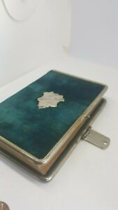 Antique German Bible Prayer Book Cover Sterling Silver 925