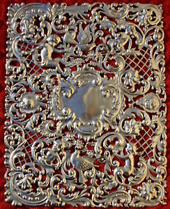 Black Starr Frost Sterling Silver Over Sized Bible Cover Huge Rare Rare Bible