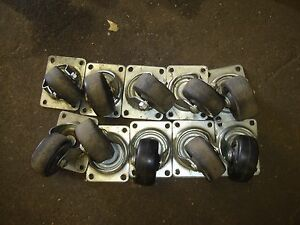 Lot 10 Casters Used Heavy Duty