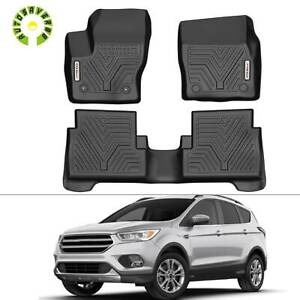 All Weather Floor Mats Floor Liners For 2015 2019 Ford Escape 1st 2nd Row Black