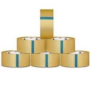 12 Rolls Clear Box Packing Shipping Tape 3 inch X 110 Yards 2 5 Mil Thick
