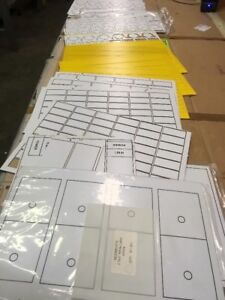 Electrical Engraving Sheets Material For Control Panels Lot