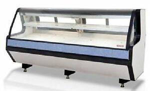 New 98 Butcher Fresh Meat Seafood Refrigerated Case Remote Lift Up Front Glass