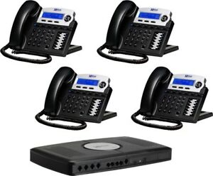 Xblue Networks X16 System Bundle W 4 Phone Expandable To 6 Telephone Lines
