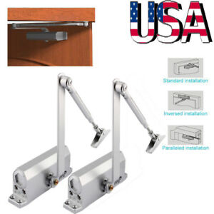 2pc Stainless Steel 45 60kg Surface Mounted Automatic Spring Closing Door Closer