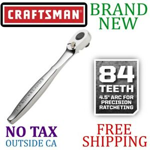 New Craftsman 1 2in Inch Thin Profile 84t Tooth Ratchet 4 5 Degree Swing Arc