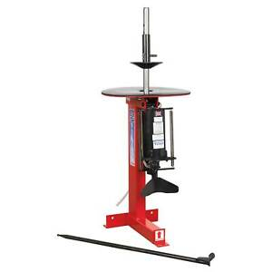 Sealey Tyre Changer pneumatic manual Bead Breaker Operation With Tyre Bar Tc962